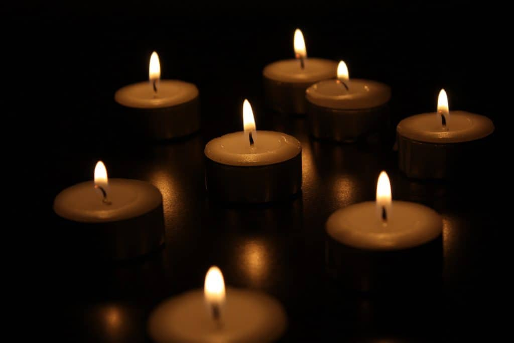 Candles for Solstice - the Turning of the Dark toward the Light
